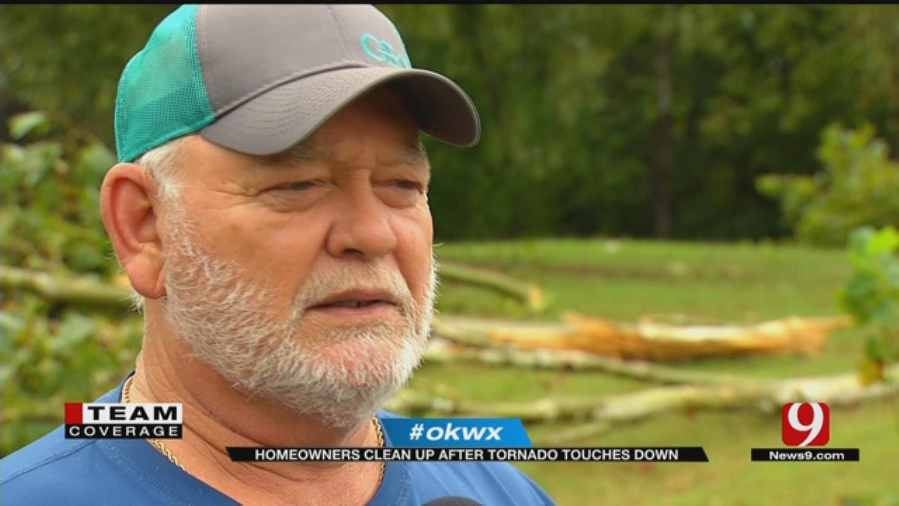 Norman Homeowners Clean Up After Tornado Touches Down
