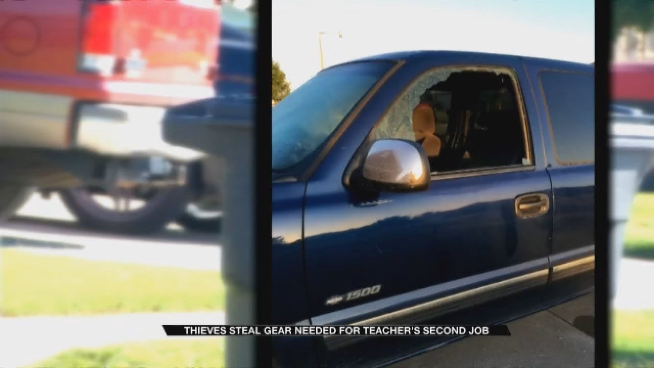 Thieves Steal Gear Needed For Moore Teacher's Second Job