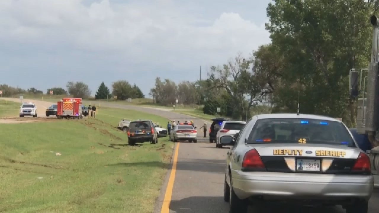 Police Chase Ends In Crash, Shots Fired Near Okarche