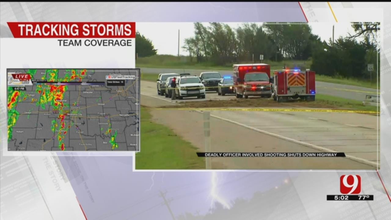 Chase Suspect Killed After Crash, Officer-Involved Shooting Near Okarche