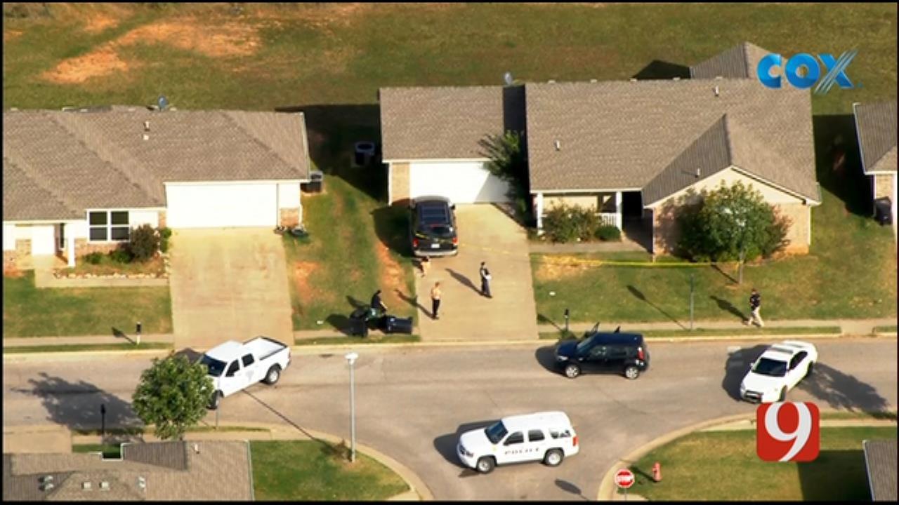 Bob Mills SkyNews 9 Flies Over McLoud Shooting Investigation