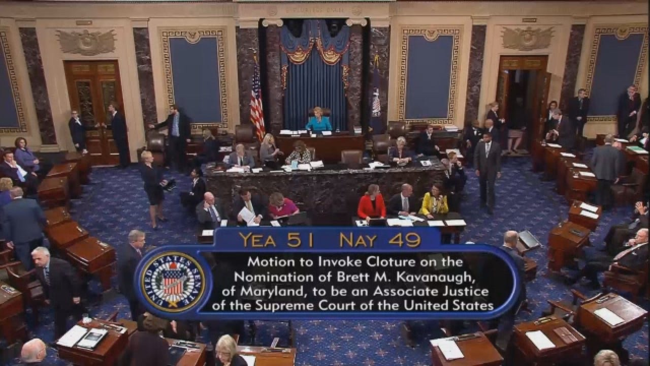 Senate Advances SCOTUS Nominee Brett Kavanaugh