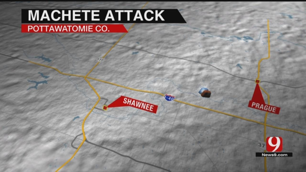 Police Search For Suspect After Machete Attack Near Pottawatomie County