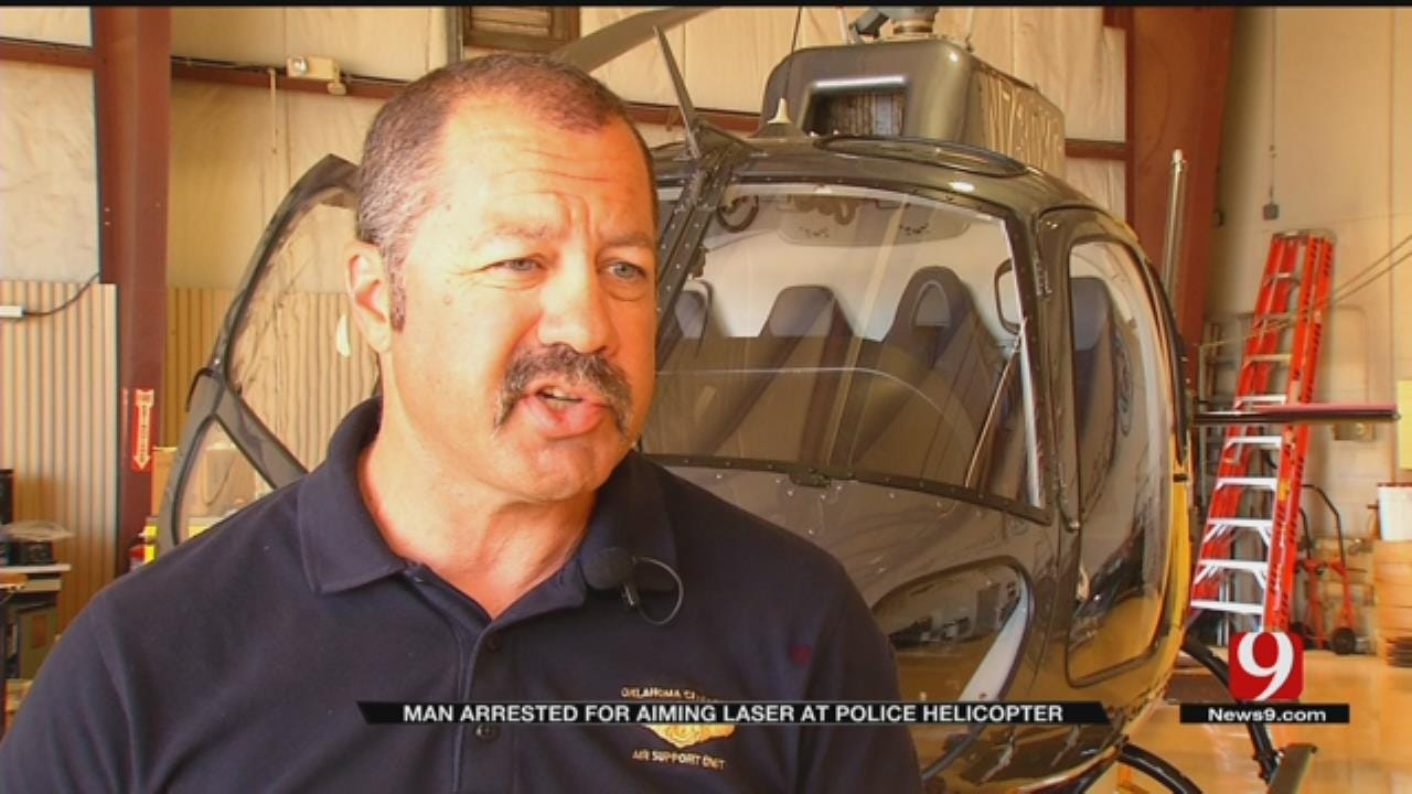 Man Arrested After Pointing Laser At OCPD's Helicopter