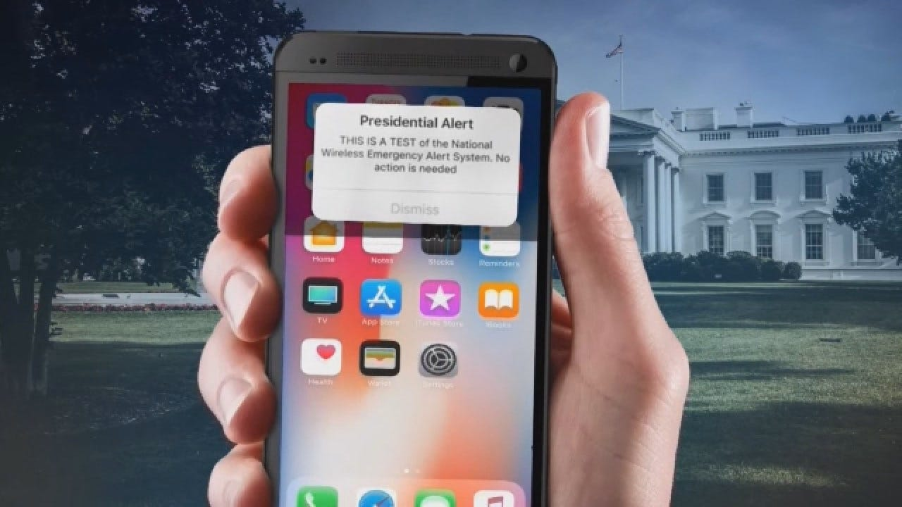 President's Alert To Be Sent To Cellphones Wednesday