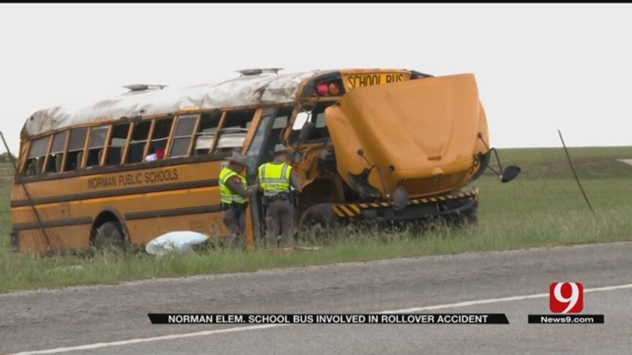 Norman School Bus Involved In Rollover Crash In Lampasas Texas