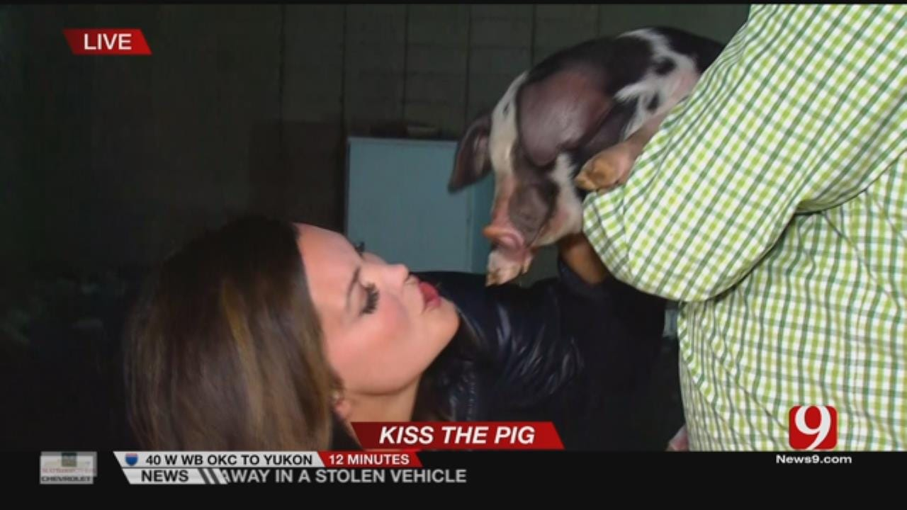 Pucker Up!: Lacie Lowry Kisses Two Pigs After Viewers Donate To Hungry Kids