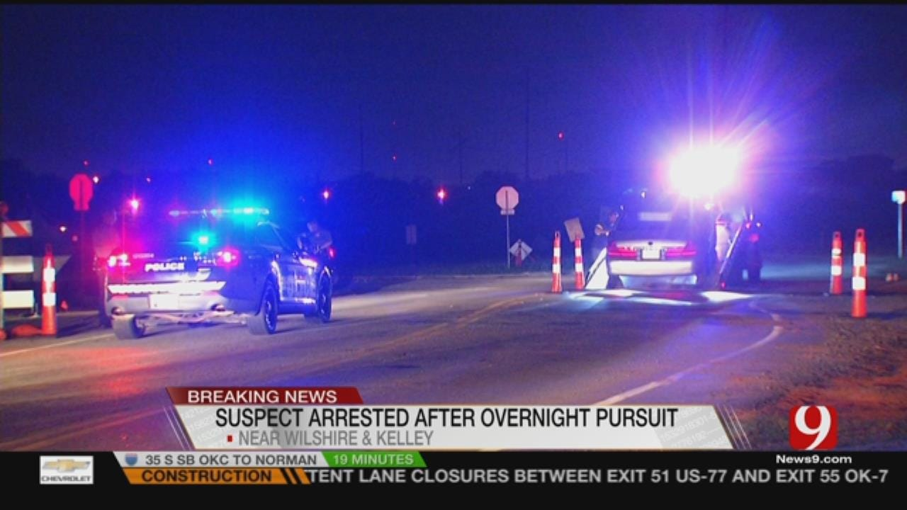 Suspect Arrested After Leading Pursuit In NW OKC