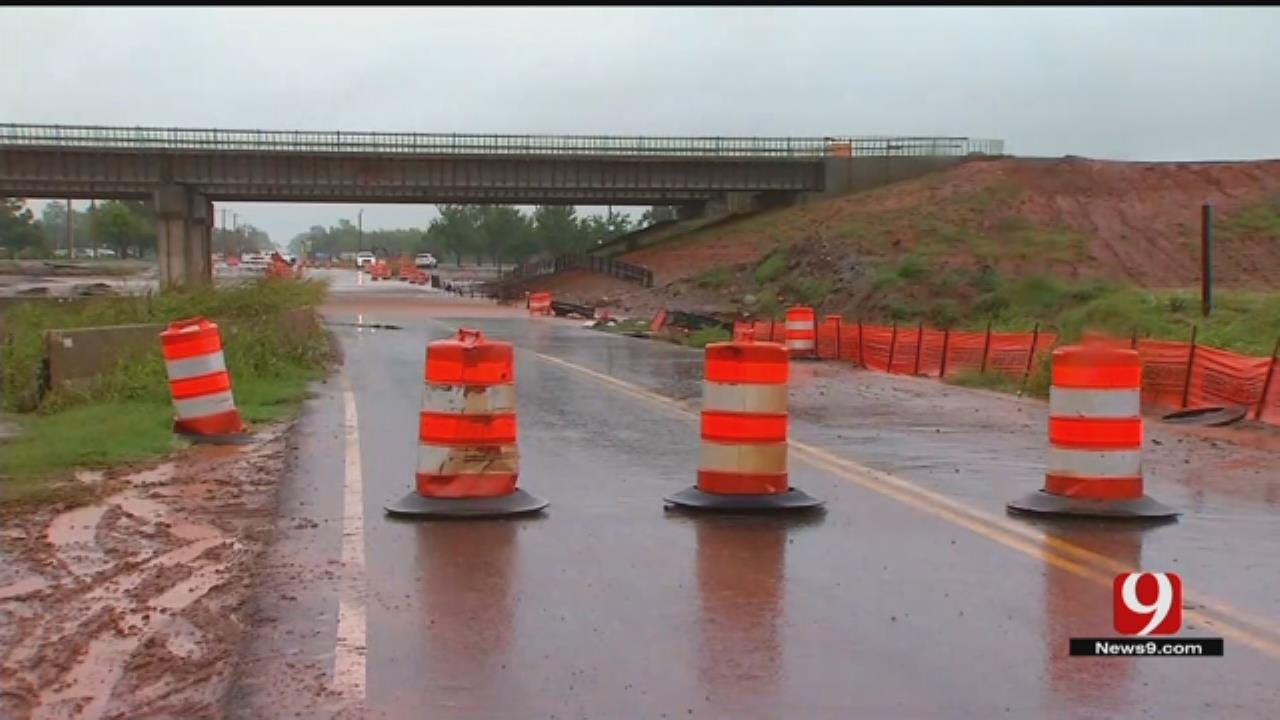 Team Coverage: Flooding Causes Road, Highway Closures In OK