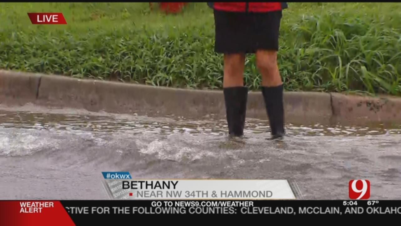 Bethany Neighborhood Floods After Heavy Rain