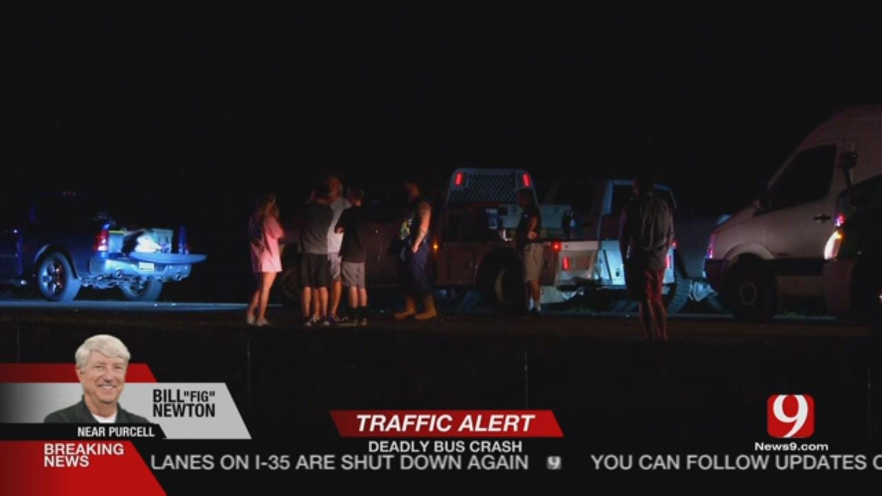 Fatal Accident Involving Passenger Bus Near Purcell