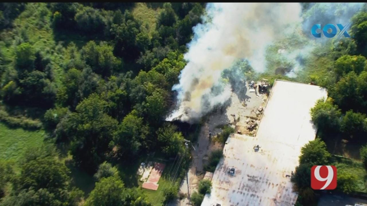 Commercial Fire Reported In NW OKC