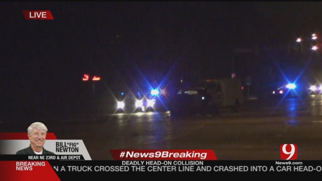 Crews Respond To Fatal Head-On Collision Near NE OKC