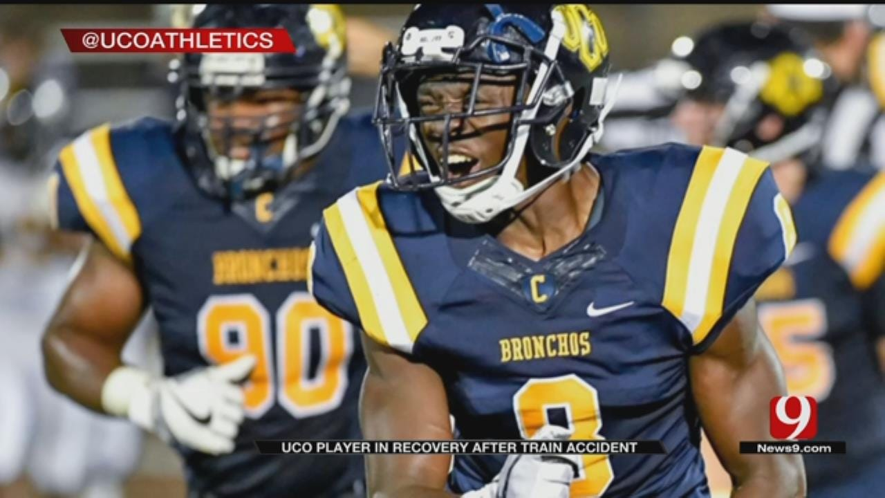 UCO Football Player Recovers After Losing Foot In Train Accident
