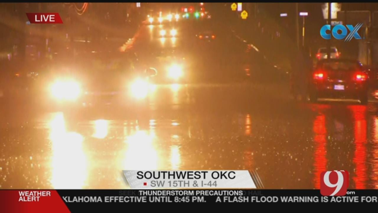 Watch Water Rescues Near SW 29th, May In Oklahoma City