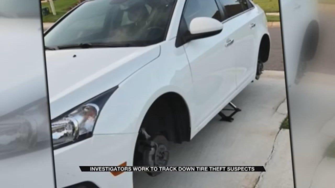 Investigators Work To Track Down Edmond Tire Theft Suspect