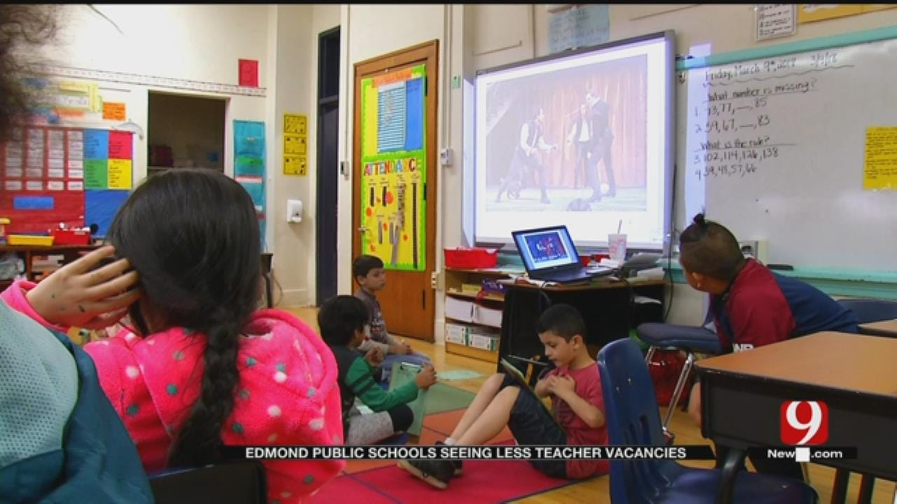 Edmond Public Schools Seeing Less Teacher Vacancies