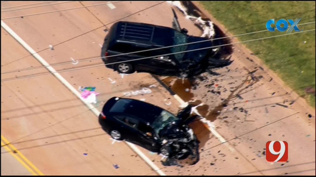 Bob Mills SkyNews 9 Flies Over Critical Injury Crash In Norman
