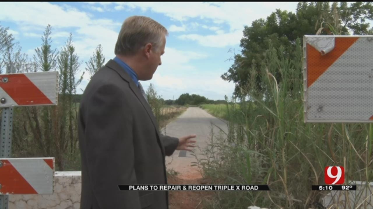 OK County Commissioner Proposes Solution For Triple X Road Erosion