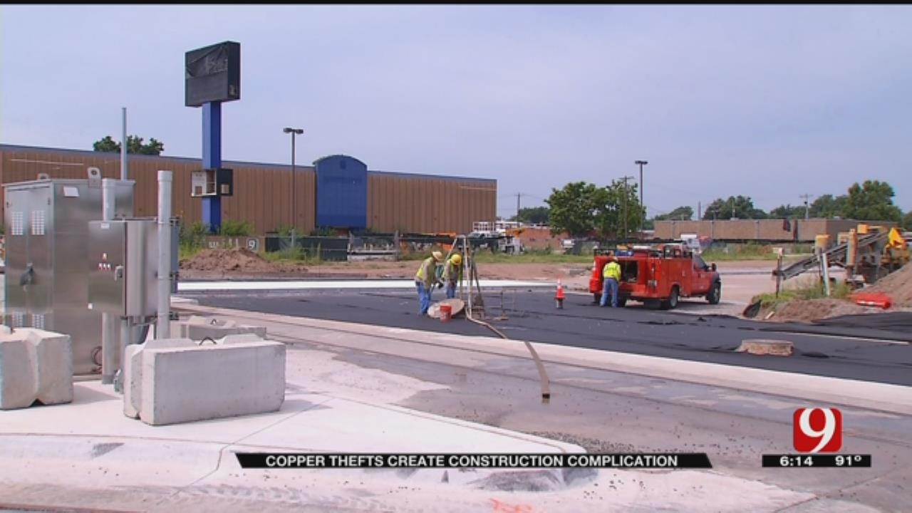 Copper Thefts Create Construction Complication For OKC Boulevard Project