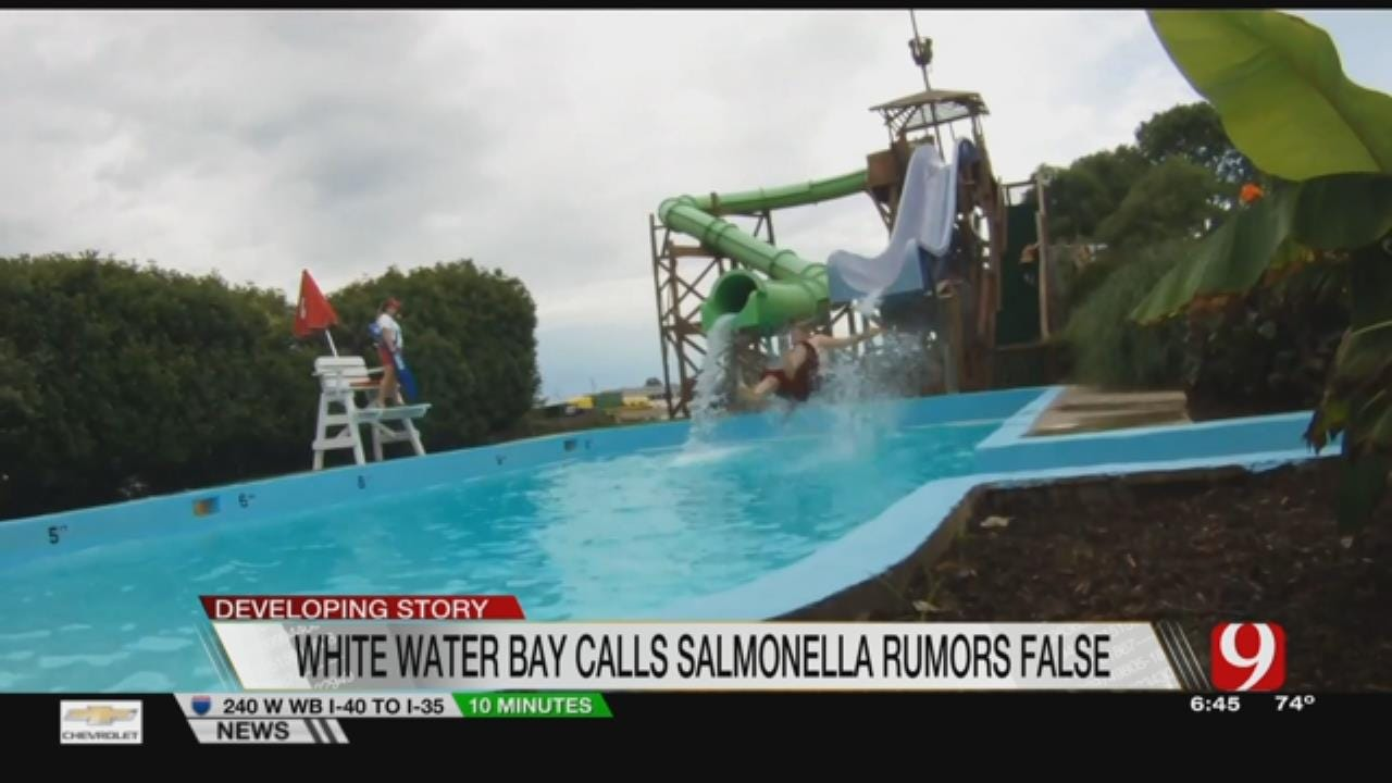 "White Water Bay Calls Salmonella Claims A ""Vicious Rumor"""