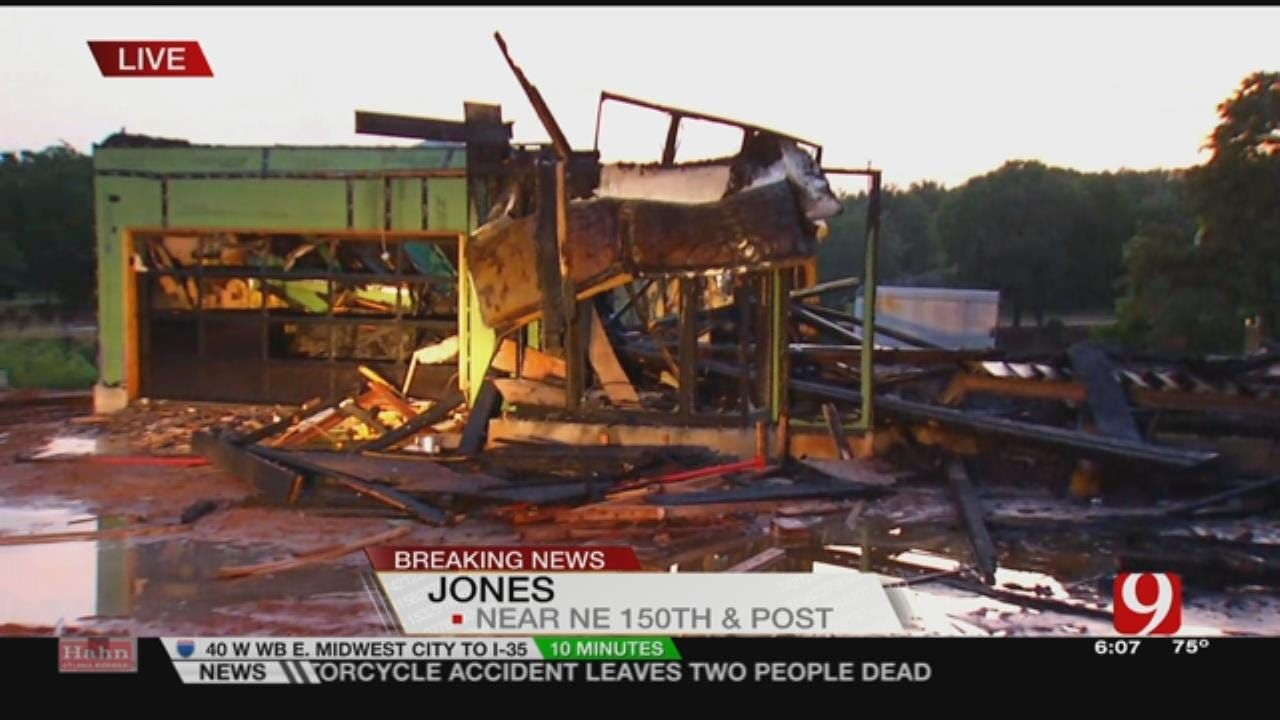 Home Under Construction Catches Fire In Jones