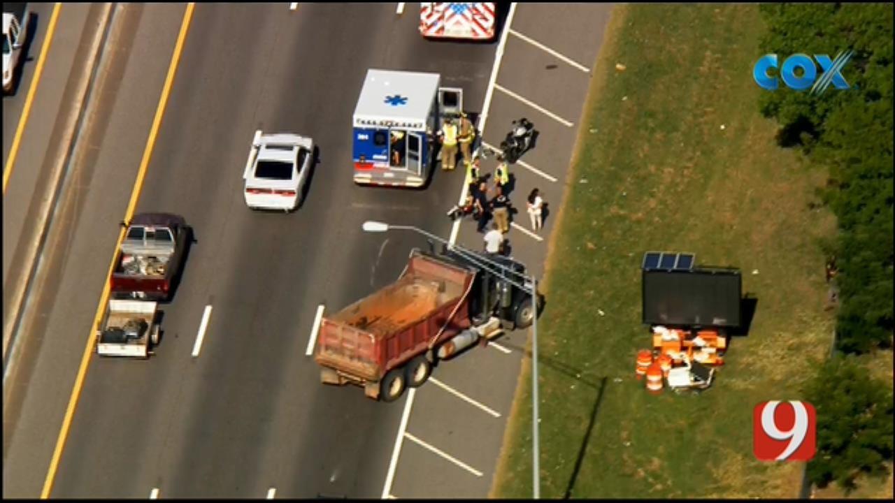WEB EXTRA: Injury Crash Reported Along EB I-240 In SW OKC