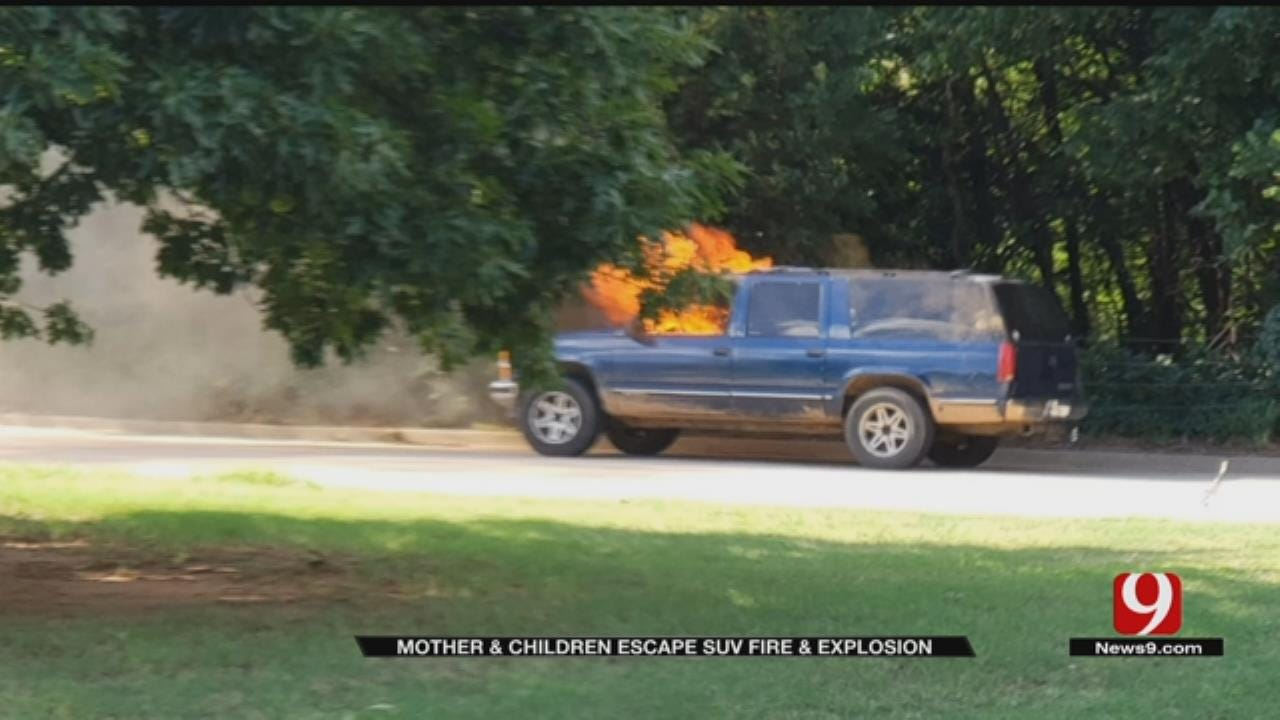 Yukon Mother And Children Escape Burning Car