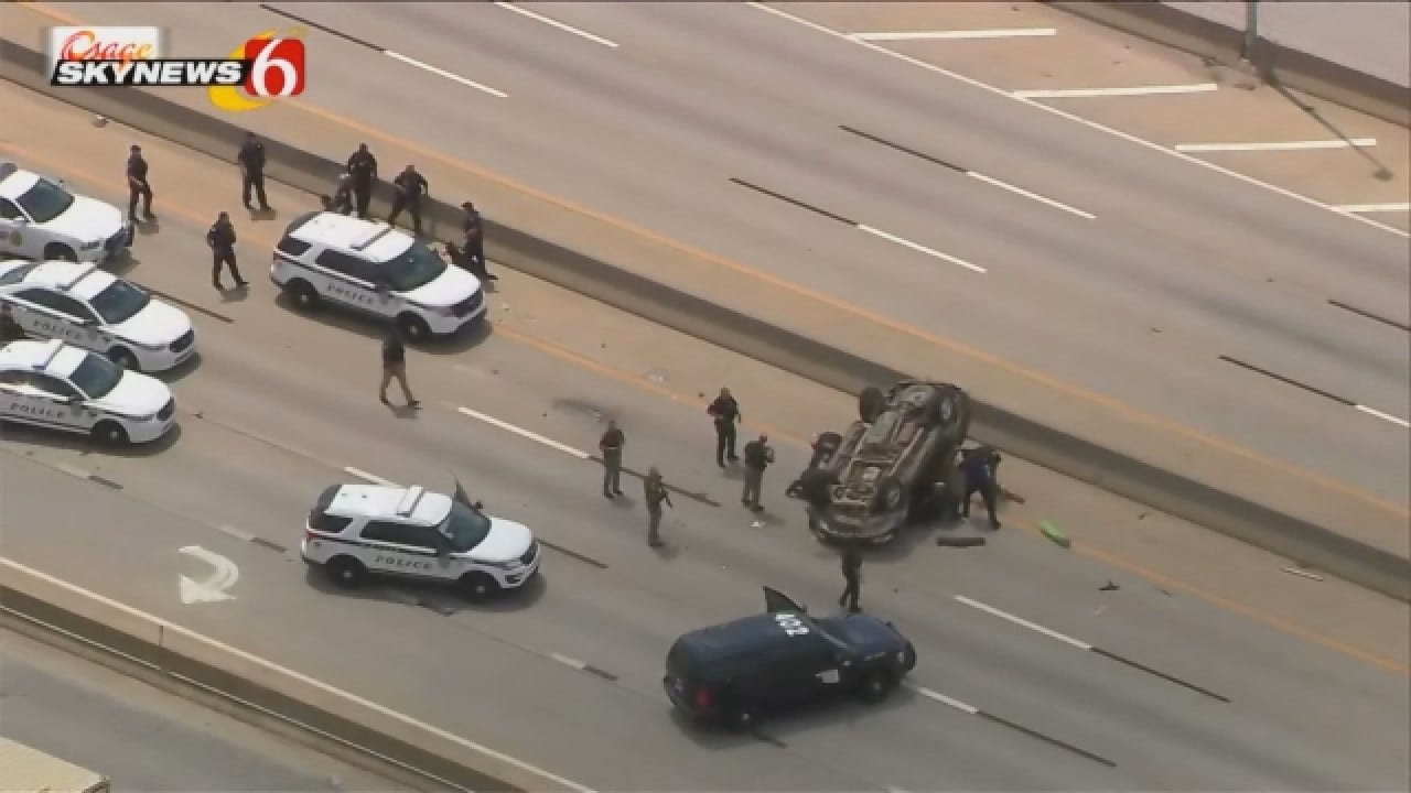 Watch The Video: Police Pursuit In Tulsa Ends In Crash