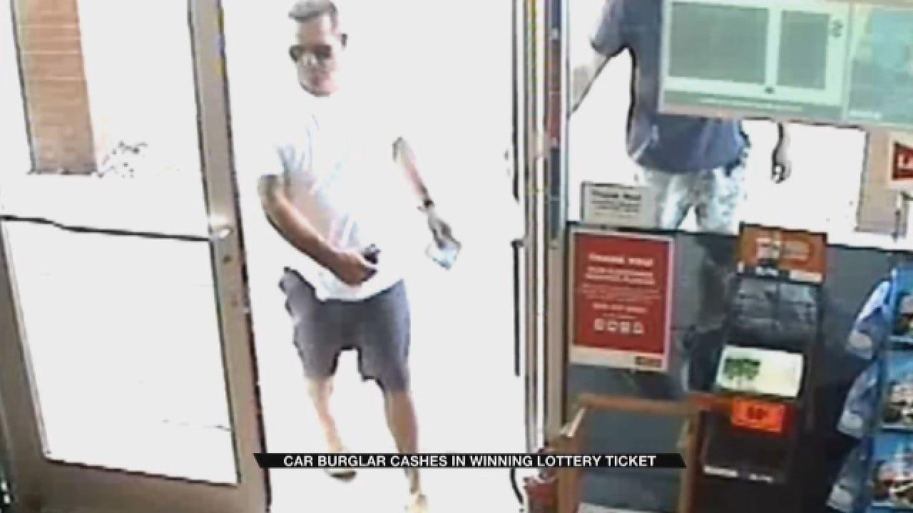 OKC Car Burglar Cashes In Winning Lottery Ticket