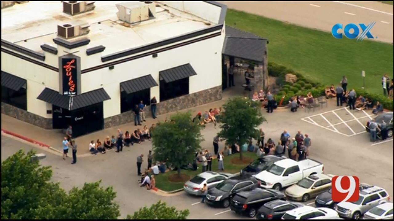 WEB EXTRA: Bob Mills SkyNews 9 Flies Over Shooting At Louie's