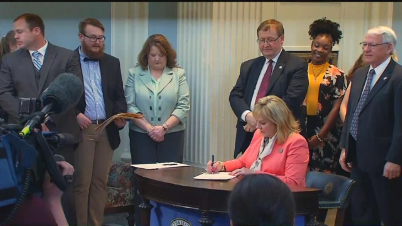 WEB EXTRA: Gov. Fallin Signs Criminal Justice Reform Bills