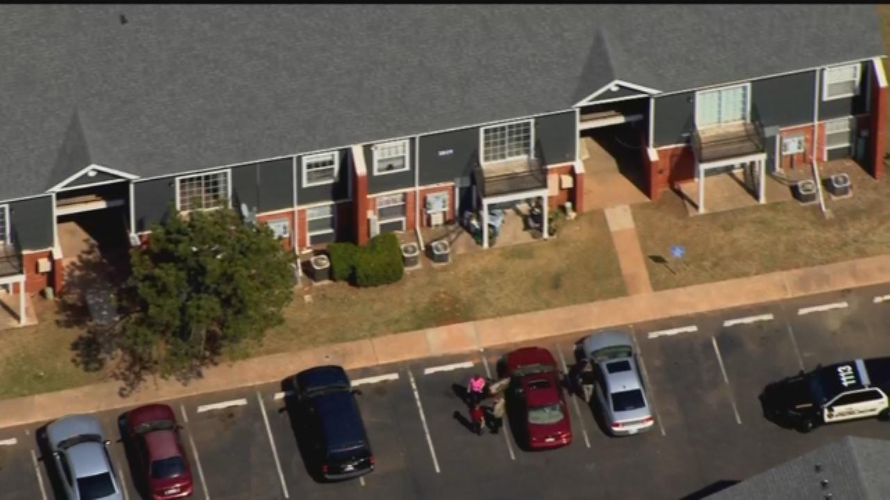 WEB EXTRA: SkyNews 9 Flies Over Norman Homicide Investigation