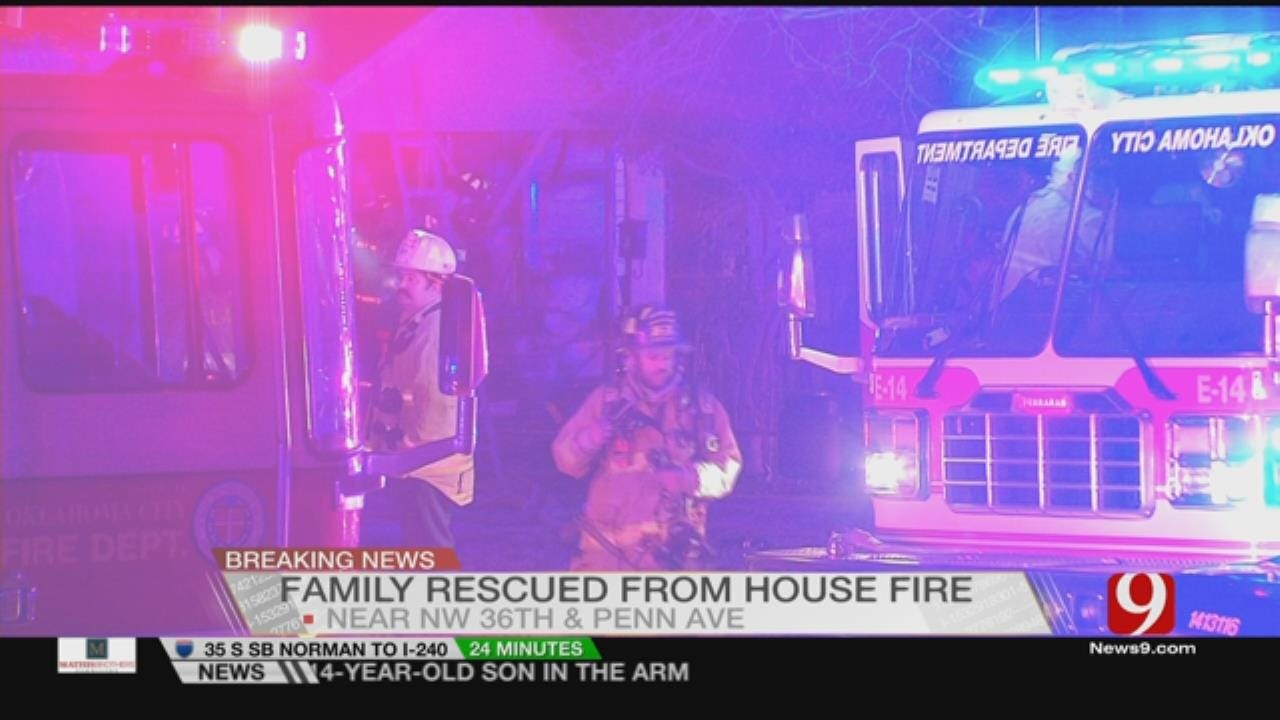Mother And Two Children Hospitalized After House Fire