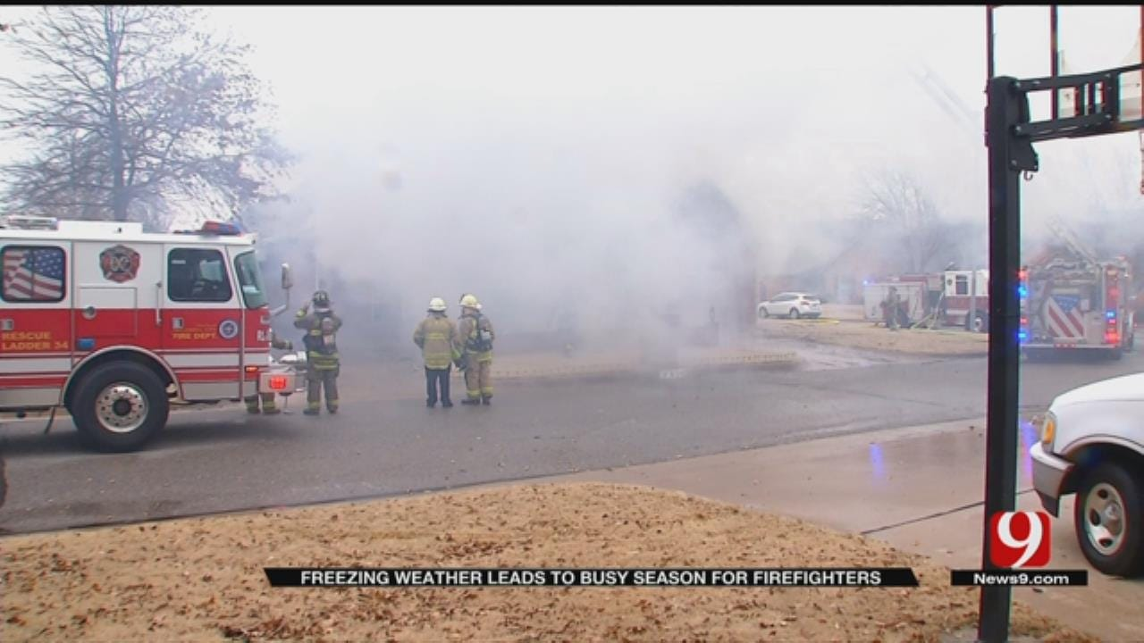 Firefighters Workload Increasing During Dry, Cold Weather
