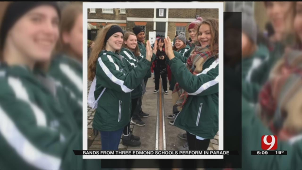 All 3 Edmond School Bands March In London New Year's Day Parade