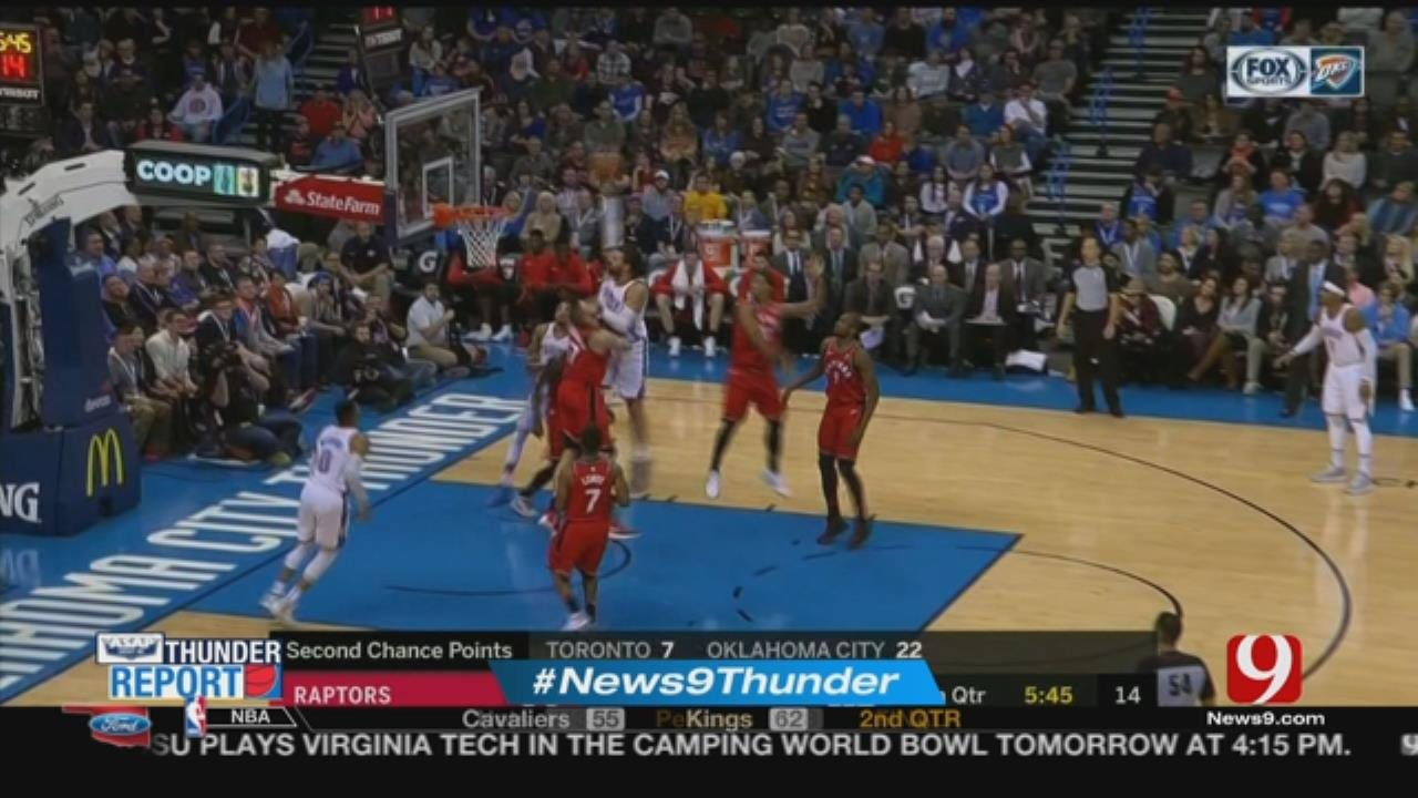 George, Westbrook Lead Thunder Past Raptors 124-107