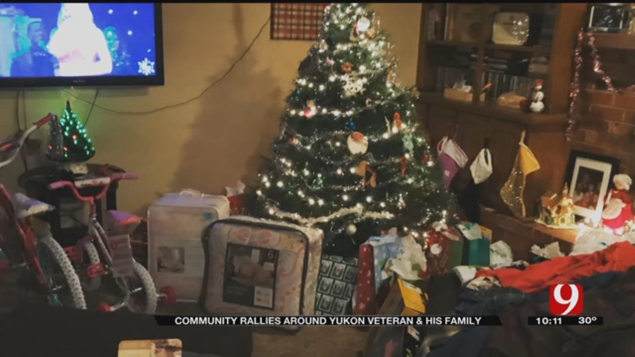 Volunteers Help Make Veteran's Family's Christmas