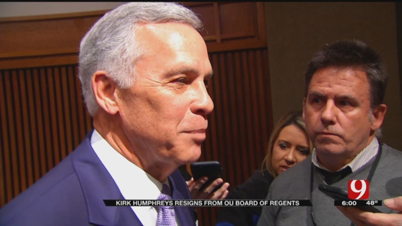 Kirk Humphreys Speaks After Resignation Announcement