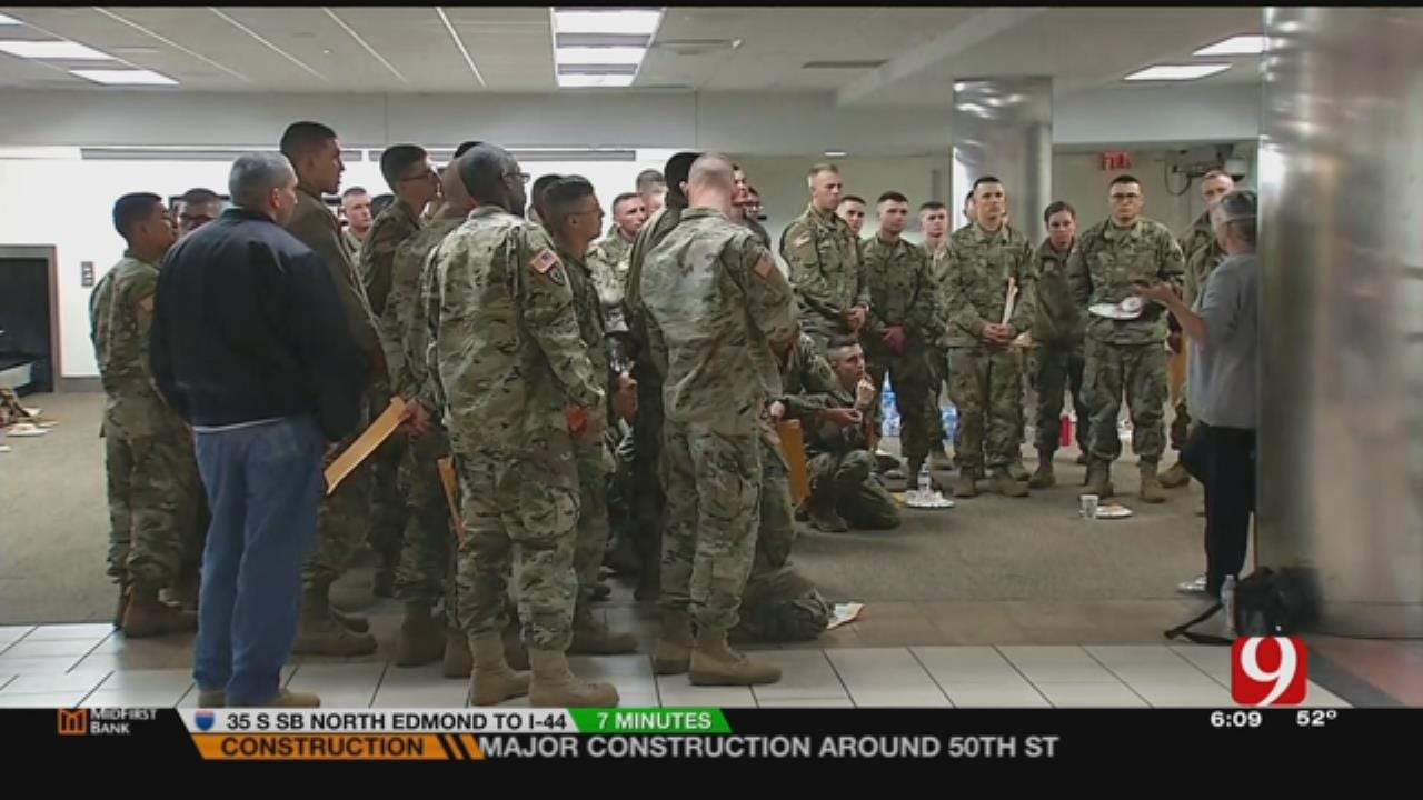 Soldiers From Fort Sill Travel Home For The Holidays