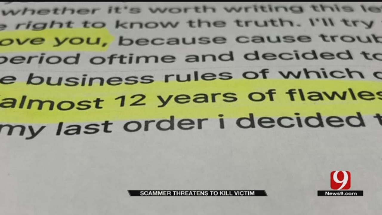 Blanchard Man Receives Death Threat From Scammer