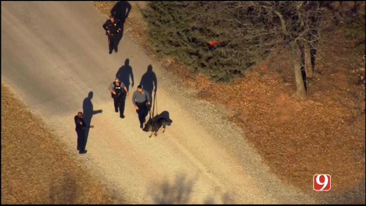 WEB EXTRA: Bob Mills SkyNews 9 Flies Over Manhunt In Luther