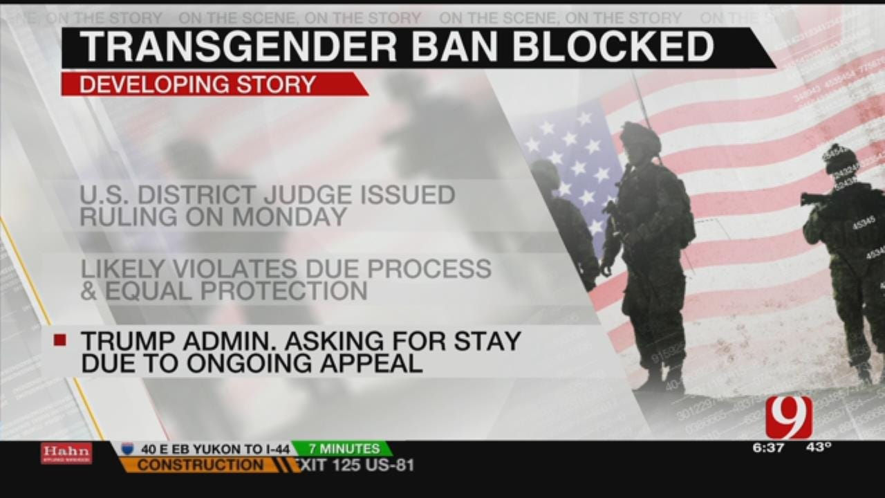 Local Transgender Veteran Talks About Military Ban Being Blocked