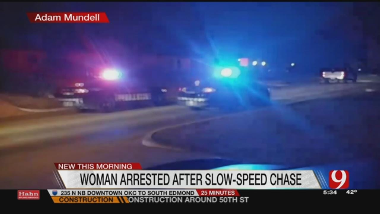 One Arrested After Leading OKC Police On Slow-Speed Chase
