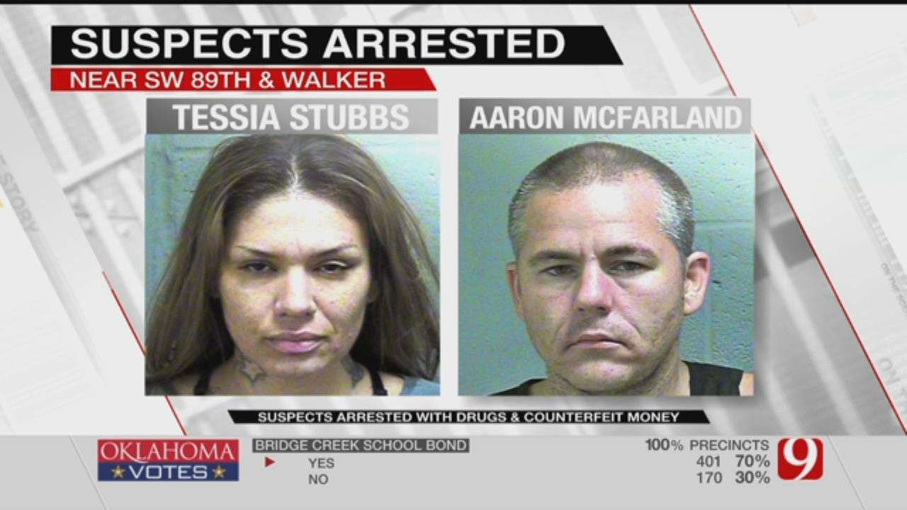 Two Arrested For Drugs, Counterfeit Money In S. OKC