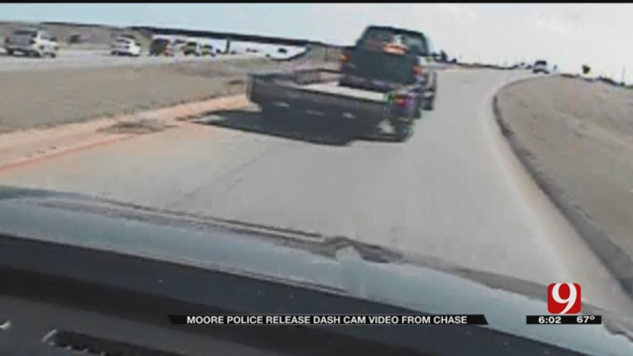 Moore Police Release Dashcam Video Of Multi-County Chase