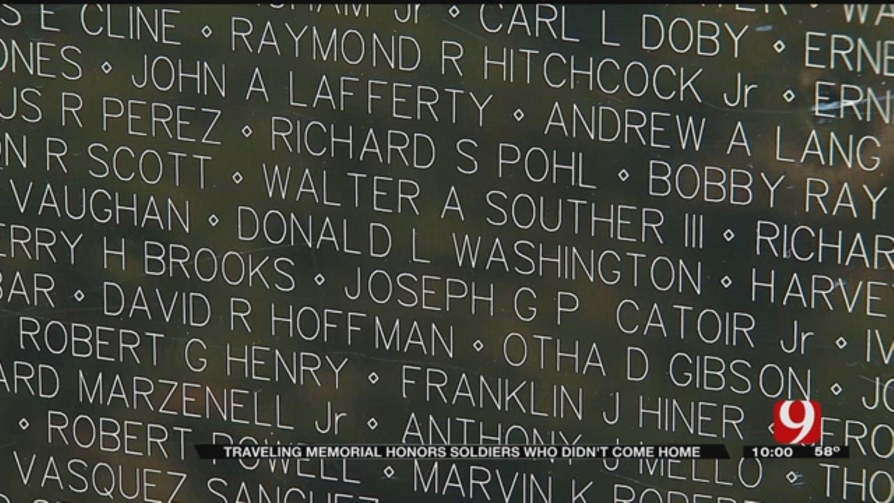 Traveling Vietnam Memorial Wall Visits OKC