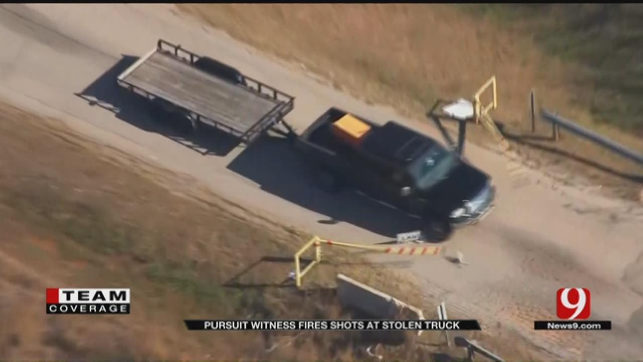 Citizen Fires Gun At Police Chase Suspect's Stolen Vehicle