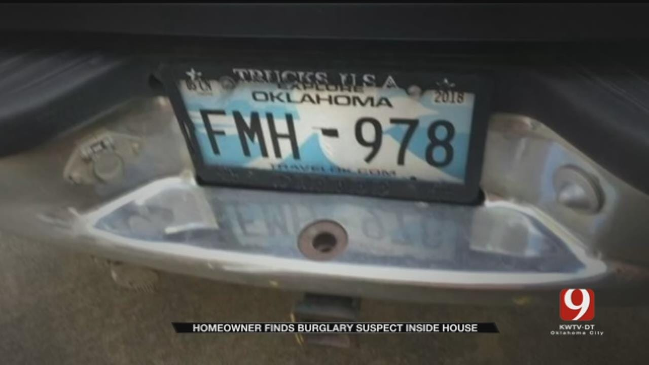 Resident Finds Burglary Suspect In NW OKC Home