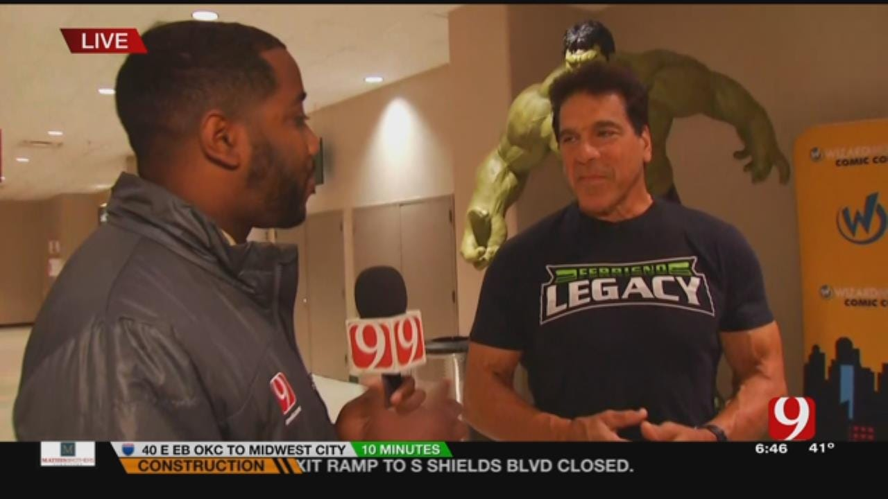 News 9's Chris Gilmore Meets The Incredible Hulk